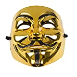 Anonymous Vendetta Maske - Gold oder Schwarz Gold/Black by Rock