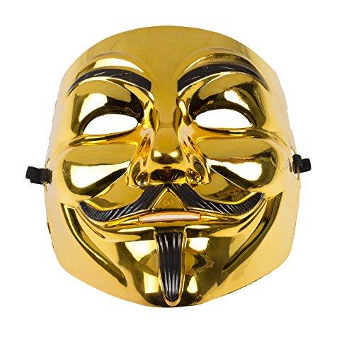 Anonymous Vendetta Maske-Gold oder Schwarz Gold/Black by (Und Gold Passt Schwarz)