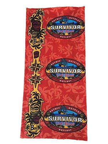 Survivor TV Show Buffs ~ Cook Islands Red Aitu Tribe Buff by Survivor (Tv-show Survivor)