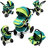 i-Safe System - Lil Friend Trio Travel System Pram & Luxury Stroller 3 in 1 Complete with Car Seat