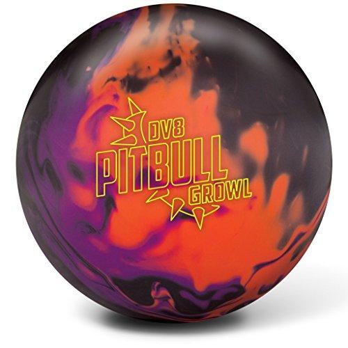 DV8Pitbull Brummen Bowling Kugeln, schwarz/violett/orange, 12Lb