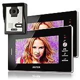 Soter) Sicherheit® Wired 17,8cm Zoll LCD Video Türsprechanlage Intercom 600TVL Kamera w mit 2Monitor Entry Kit-System
