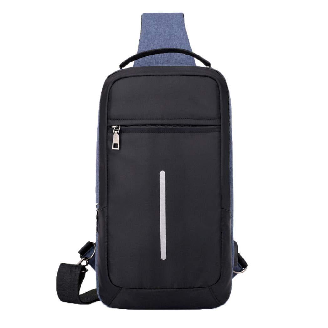 Ode Joy USB zaino Borsa da uomo Sacca petto per pacchetto Tracolla,-Borsa  da viaggio di grande capacità- Zaino per studenti-Borsa del portatile-Porta  ... bf12edd8216