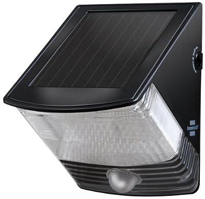 Brennenstuhl Solar LED-Wandleuchte SOL 04 IP 44 mit Bewegungsmelder, schwarz 1170820 von Hugo Brennenstuhl GmbH & Co. KG bei Lampenhans.de