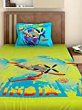 Bombay Dyeing Disney Classic Single Bedsheet with 1 Pillow Cover - Blue and Green