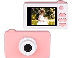 Upgrow Kinder Kamera Niedlich Digital Kamera 2.0 Zoll LCD Display, HD 1080P Kamera für Kinder mit Cartoon Aufkleber, Kinder G