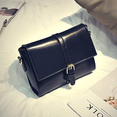 FZHLYFZHLY2017 PU Nuovo Modo Leather Oil Versione Coreana Tracolla Messenger,LightBrown Black