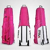 PGM Gepolsterte Travel Cover Bag mit Rollen --- kostenlos senden eine kleine Speicher Tasche, faltbar, damen Herren, white-rosered