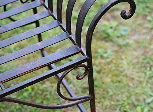Nostalgie Gartenbank Metall Sitzbank antik Stil Bank Hocker garden bench - 7