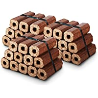 X36 Premium Eco Wooden Heat Logs Pack. Fuel for Firewood,Open Fires, Stoves and Log Burners - Comes with THE LOG HUT® Woven Sack.