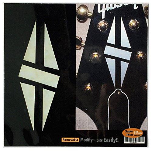 Einlage Aufkleber Kopfplatte Aufkleber Gitarre in Mop Thema-2Set LP Diamant Hatch WP -