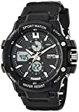 Skmei Analog-Digital Black Dial Men's Watch - 990BLK