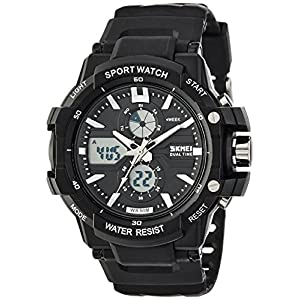 SKMEI Analog-Digital Black Dial Men's Watch – AD0990 (BK White)