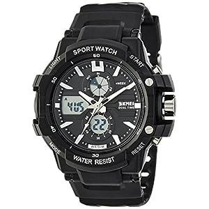 SKMEI Analog-Digital Black Dial Men's Watch-AD0990 (BK WHITE)