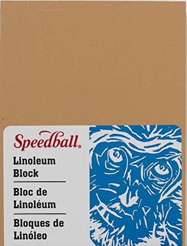 Unbekannt Speedball 4308 Premium Montierte Linoleumblock, feine, Flache Oberfläche für einfaches Schnitzen, rauchige Bräunung, 4 x 6 Zoll 3 x 4 Inches grau -