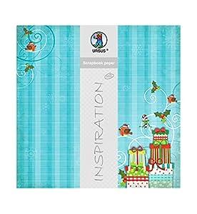 Ursus Premium Glitter Scrapbook Paper Navidad Tiempo
