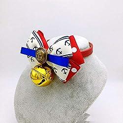 Dixinla Collier Chien Chat de Bell Fourrure Papillon Noeud Cravate Manches Cou de Chien
