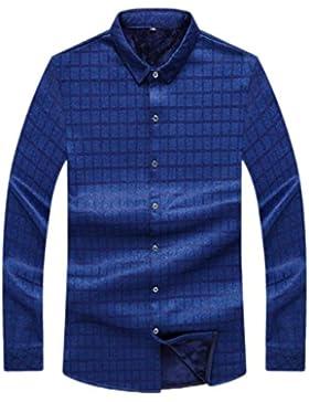 Camisa Cálida De Otoño E Invierno Para Hombres Además De Camisa De Terciopelo Gruesa Y Cálida