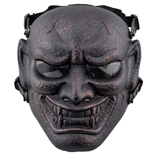 Fansport Máscara de Juego Al Aire Libre Máscara de Terror Disfraz Mascarilla Completa para Halloween Cosplay Airsoft