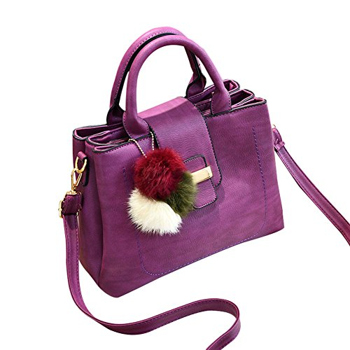 Flada, Borsa a tracolla donna nero Black medium Darkpurple