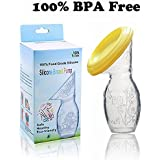 Easyinsmile Manual Suction Milk-saver Breast Pump With Lid Portable Hand-free Ideal For Travel And Collecting Letdown While Breast-feeding