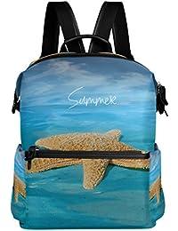 Preisvergleich für COOSUN Starfish In Blue Ocean Schule Rucksack-Spielraum-Rucksack Multi