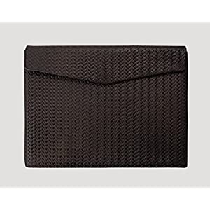 Ledertasche Macbook (12 Zoll) Braid Paperbag in dunkelbraun