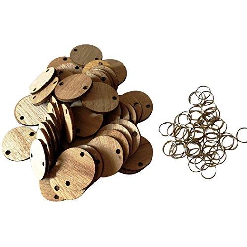 Erinnerung Board Birch Ply Plaque Zeichen DIY Kalender Zubehör Holz Kalender Zubehör Wooden Discs Assembly Hook (C) (Hochzeit Zeichen Diy)