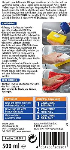 SONAX XTREME Polish+Wax 3 Hybrid NPT (500 ml) zum Abtragen verwitterter Lackschichten und Auffrischen matter Farben | Art-Nr. 02022000
