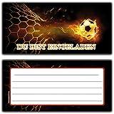 Einladungskarten Fussball Kindergeburtstag Einladung Einladungen Karte Einladungs-Set Motto - 8 Stück