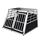 WIS Hengda alluminio Trasportino per cani doppia porte cani Box auto Trasportino per cani gabbia per cani il trasporto Extra Grandi