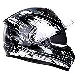 Römer Helmets Motorradhelm Bonn, Schwarz/Silber Dekor, Größe XL