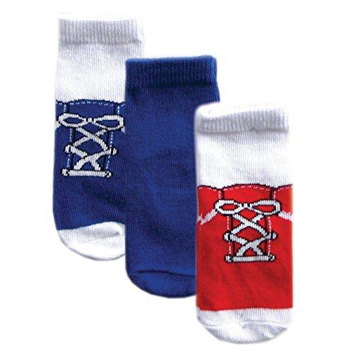 Luvable Friends Confezione da 3paia di calze in pizzo rosso e blu bambino rosso M