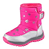 Baby Shoes for 4-8 Years Old Kids,LianMengMVP Children Winter Snow Boots Fashion Students Sneakers Christening Baptism Shoes Anti Slip Sneakers