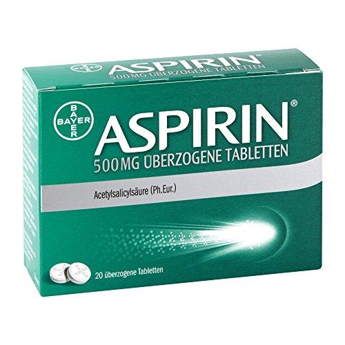 Aspirin 500 mg überzogene Tabletten, 20 St. Tabletten