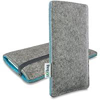 Stilbag Filztasche 'FINN' für Apple iPhone 4/4S - Farbe: hellgrau/azur