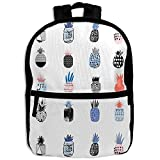 HOJJP HandtascheChild Girl Reusable Pineapple Patterns Printed Backpack School Bag