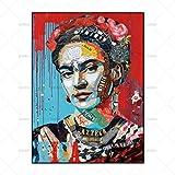 FENGJIAREN Hochauflösender Druck Poster Und Drucke Kunst Der Mann Porträtdekoration Leinwand Gemälde Für Wohnzimmer Home Decor Kein Rahmen, 50Cm × 70Cm
