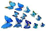 3D Schmetterlinge Wandtattoo Wanddeko Wandtatoo mit Magnet/Klebe-Punkte