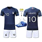 Fine Finet Maillots de Sport Homme Football T-Shirt et Short France 2 Étoiles...