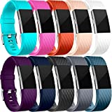 For Fitbit Charge 2 Strap, HUMENN Fitbit Strap Charge 2 Adjustable Replacement Sport Accessory Wristband for Fitbit Charge2 Fitness Tracker Large Multi Colours