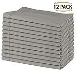 SweetNeedle - Pack von 12 - 100% reines Leinen handgefertigte Leiter Spitze gestickten Servietten 50 cm x 50 cm (20 Zoll x 20 Zoll) in natürlicher Farbe