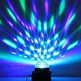 luniquz 3W RGB Lampe Bühne Stimmungslicht Globeform Mini Projektor Spot Kontrolle Vocal für boums, Geburtstage, Abend, Party