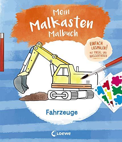 Mein Malkasten-Malbuch - Fahrzeuge: Einfach losmalen! Mit Pinsel und Wasserfarben