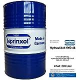 205l FASS HYD 46 LEPRINXOL HYDRAULIKFLÜSSIGKEIT. Das in 205 Litern Werkstattfass abgefüllte Hydrauliköl HLP 46 ist ein Mineralöl, das als Druckflüssigkeit, Hydraulik Öl, der DIN 51524 Teil 2-HLP, SEB 181 222-HLP und VDMA, in Hydraulikanlagen verwendet wird.