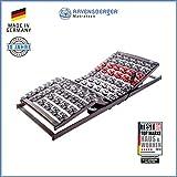 Ravensberger Matratzen VARIFLEX Stabiler Systemtellerrahmen - Made in Germany FERTIG MONTIERT - 5-Zonen - Elektrisch - 4-Fach Segmentteller-Federelementen RAVENSBERGER 100x200 cm