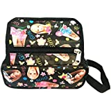 Akisha Multi Purpose Barbie Pencil Pen Case Storage Pouch Bag With Three Zip Pocket For Girls(Black)