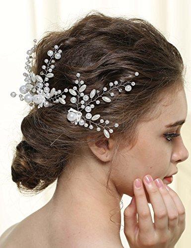 Aukmla Nero Wedding Hair Pins For Women, Bridal Hair Accessories With Rhinestones