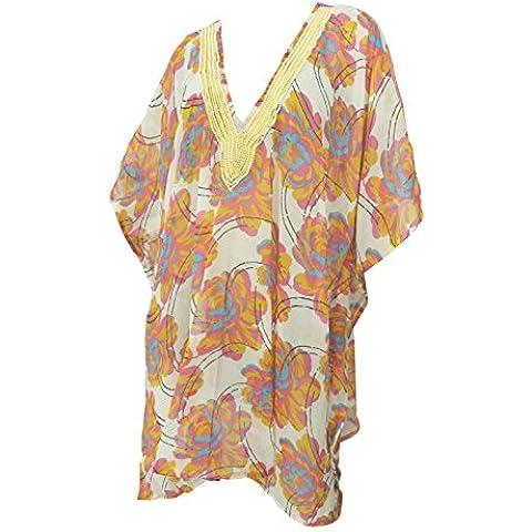La Leela leggero chiffon 5 signore oz tutto in 1 spiaggia vestito salotto top tunica vestito spiaggia più il formato prendisole paillettes coprire costume bagno spiaggia caftano pool party kimono maxi