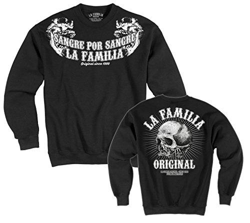 """LA Familia ORIGINAL. """"Double"""" Herren Sweat Shirt SCHWARZ gebraucht kaufen  Wird an jeden Ort in Deutschland"""
